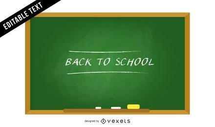 Back to school chalkboard illustration