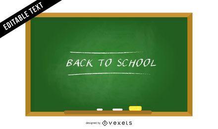 De volta à ilustração de quadro de escola