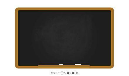 Ilustração de lousa de escola