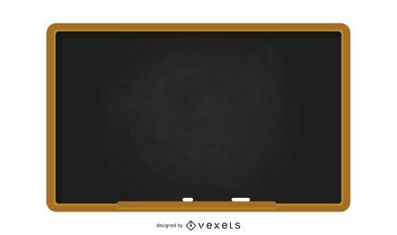 School blackboard illustration