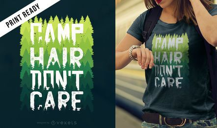 Design de camiseta de cabelo para acampamento