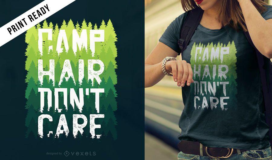 Design de t-shirt de cabelo de acampamento