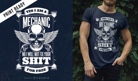 Mechaniker-Zitat-T-Shirt Design