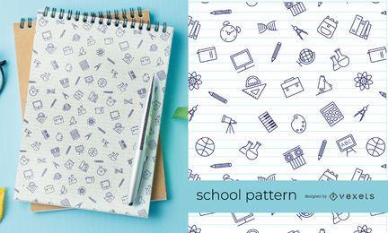 Thin Stroke school elements pattern