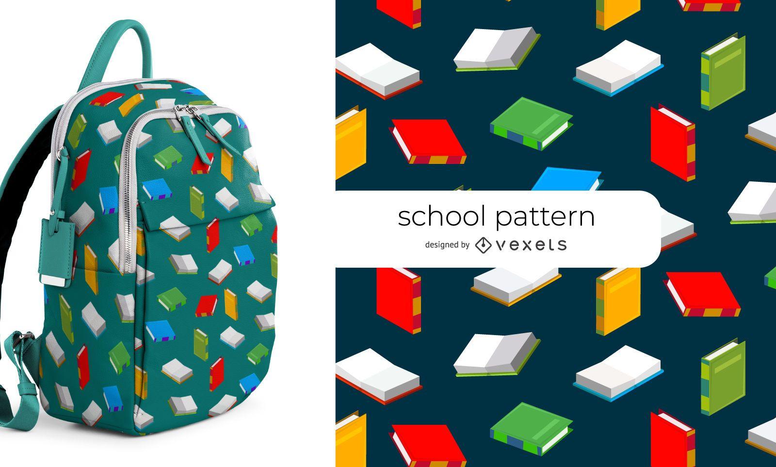Padrão sem emenda da escola de livros