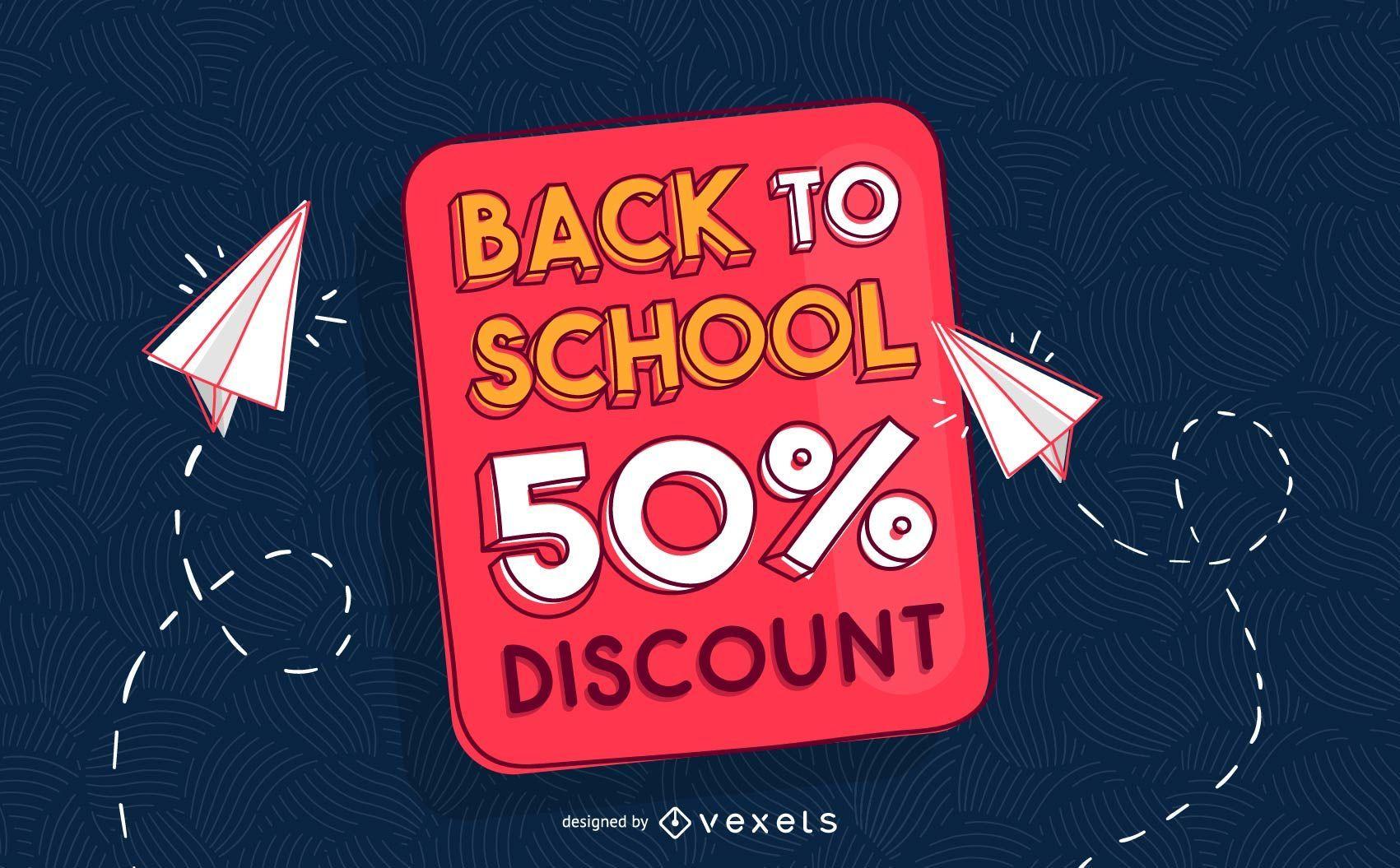 Back to school discount flyer