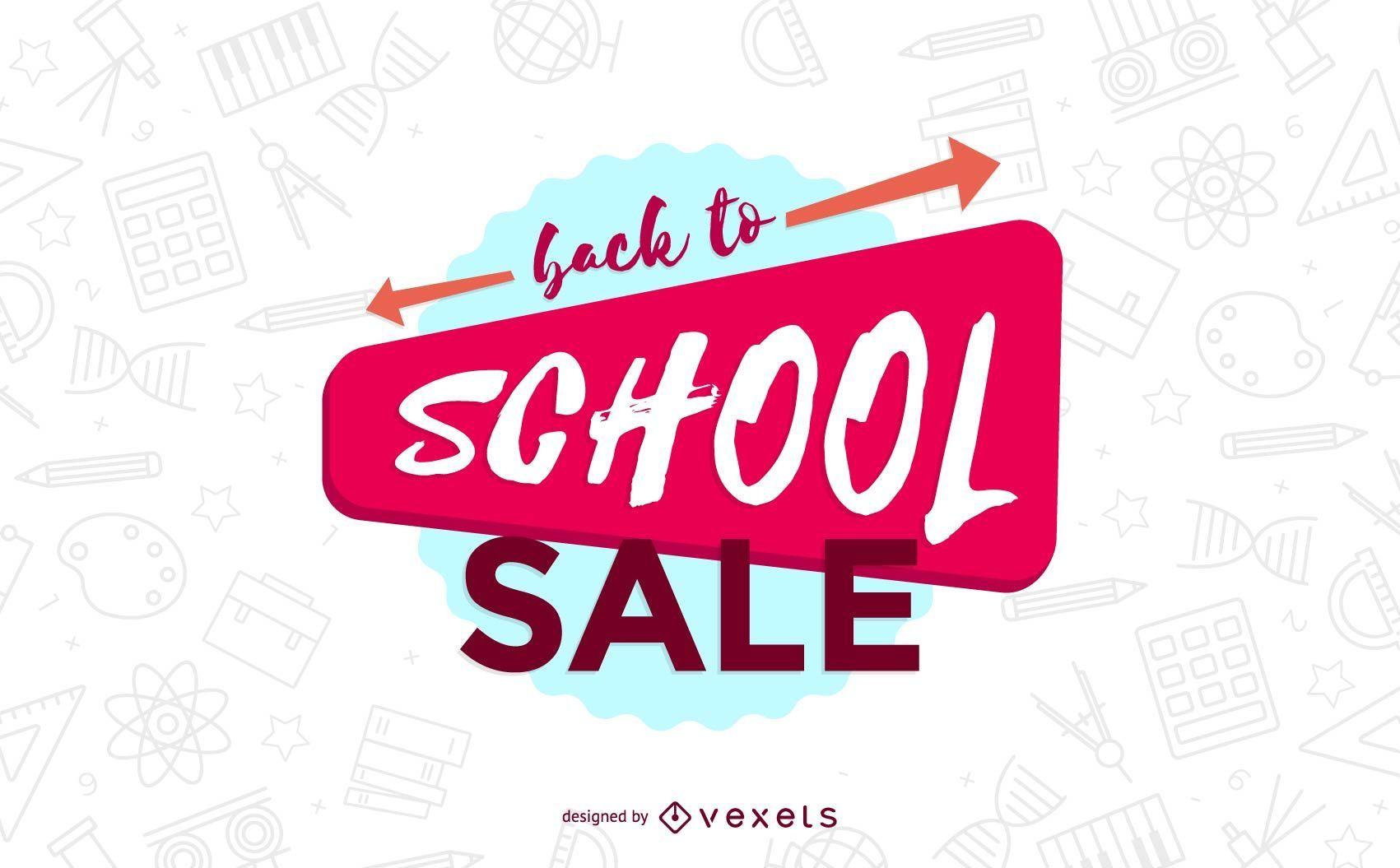 Back to school sale flyer