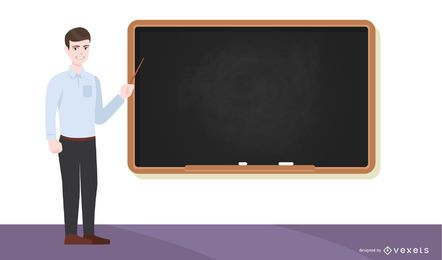 Professor escola, ilustração