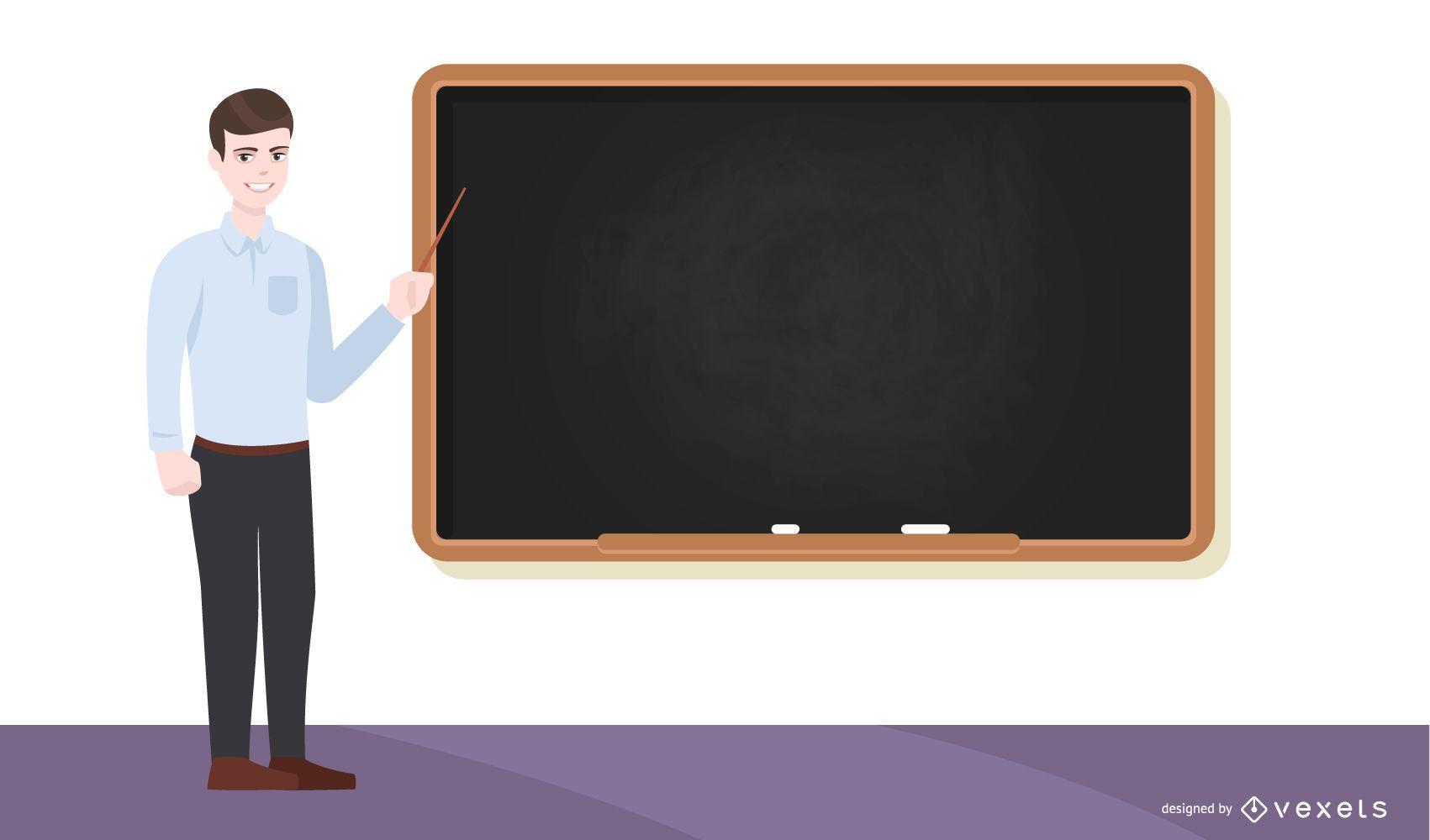 School teacher illustration