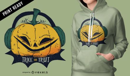 Diseño de camiseta de calabaza de Halloween