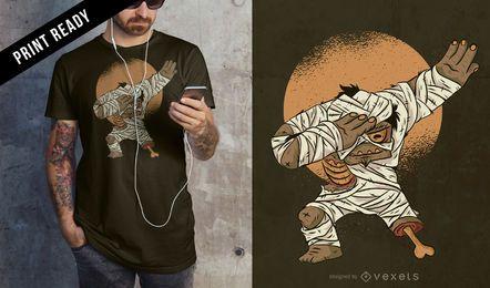 Diseño de camiseta momia dab