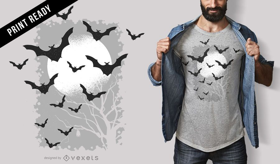 Fledermaus-T-Shirt-Design