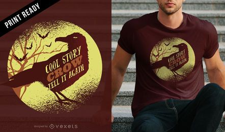 Diseño de la camiseta historia fresca