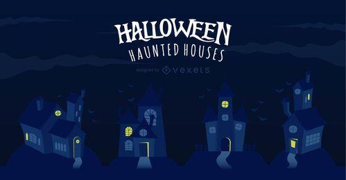 Kühle Halloween-Geisterhäuser