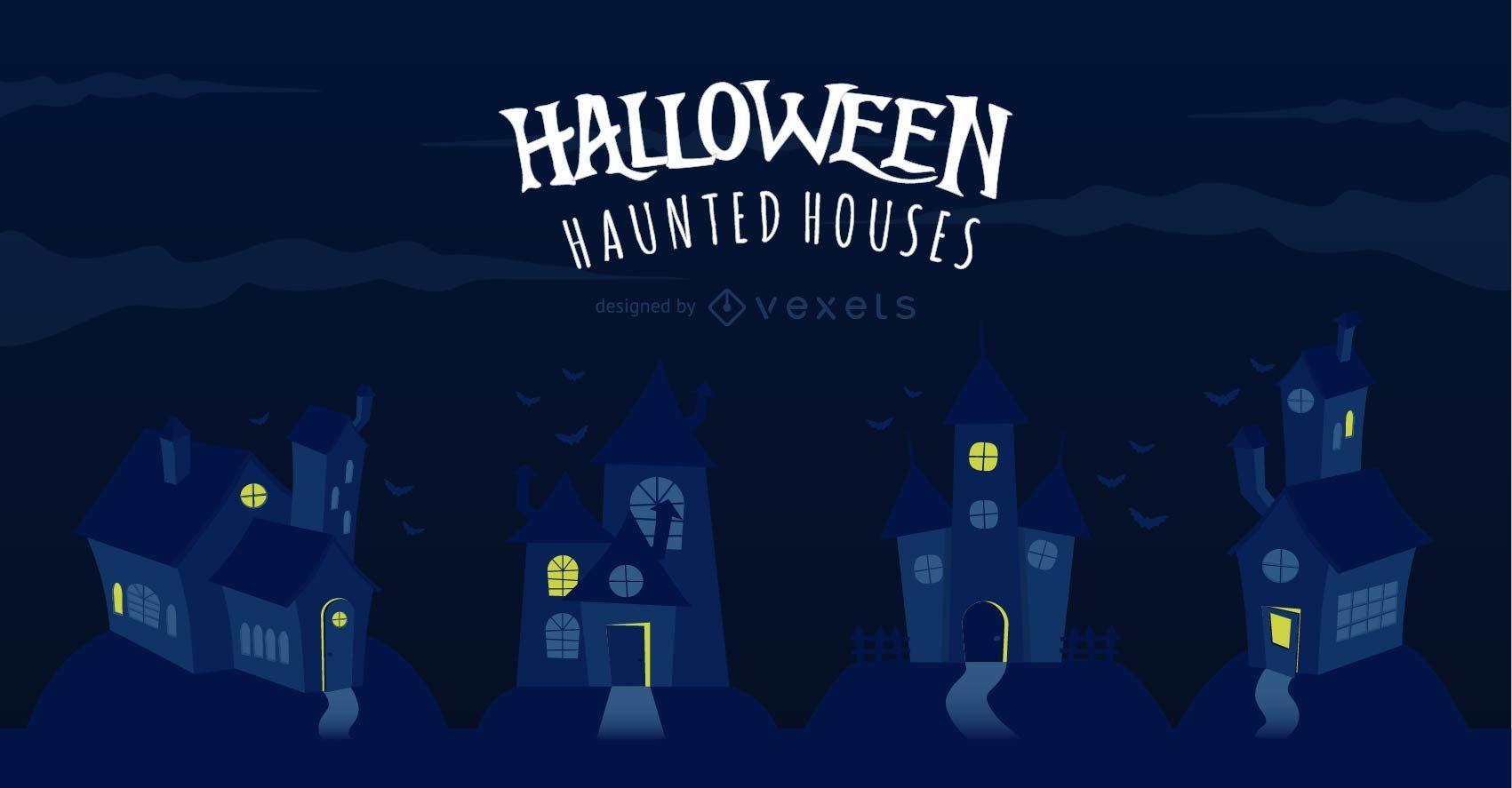 Escalofriantes casas embrujadas de Halloween