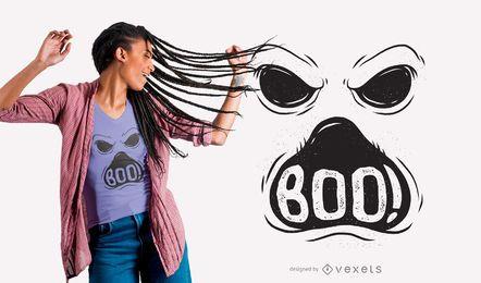 Diseño de camiseta fantasma boo