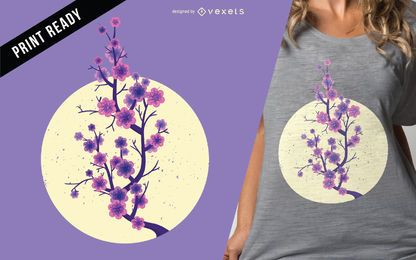 Sakura cherry blossom t-shirt design