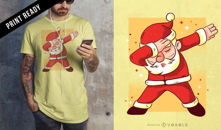 Santa dab t-shirt design
