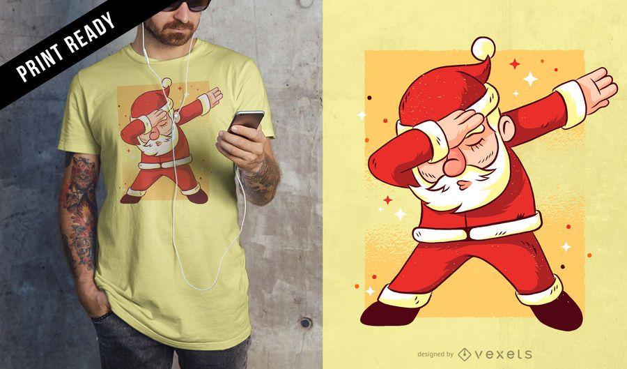 Projeto do t-shirt de Santa dab