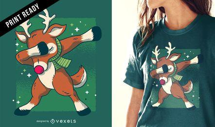 Diseño de camiseta de reno de dab