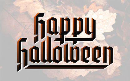 Letras de feliz halloween
