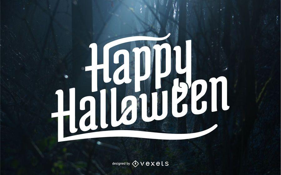 Halloween lettering design