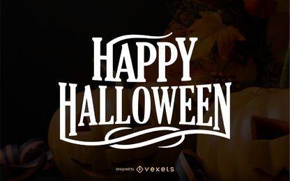 Happy Halloween Grußbeschriftung