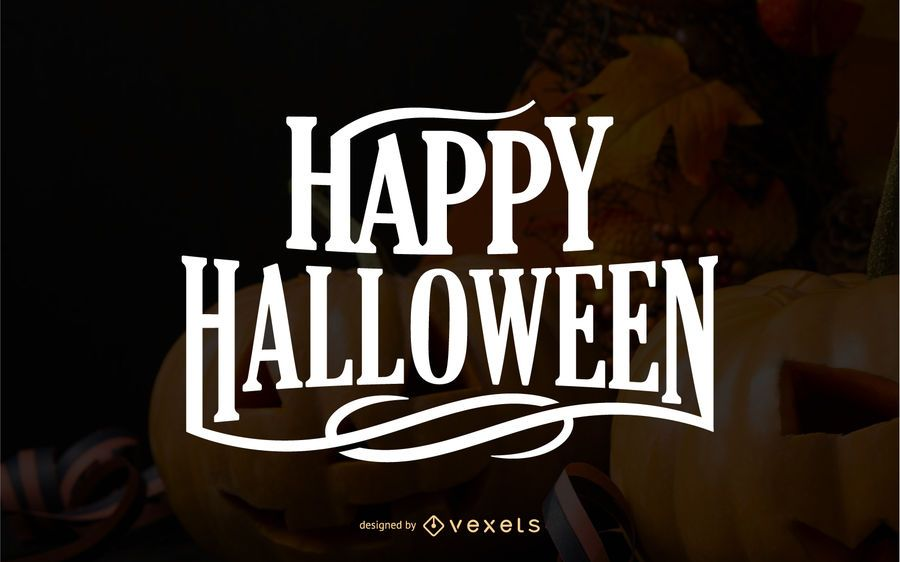 Happy Halloween greeting lettering