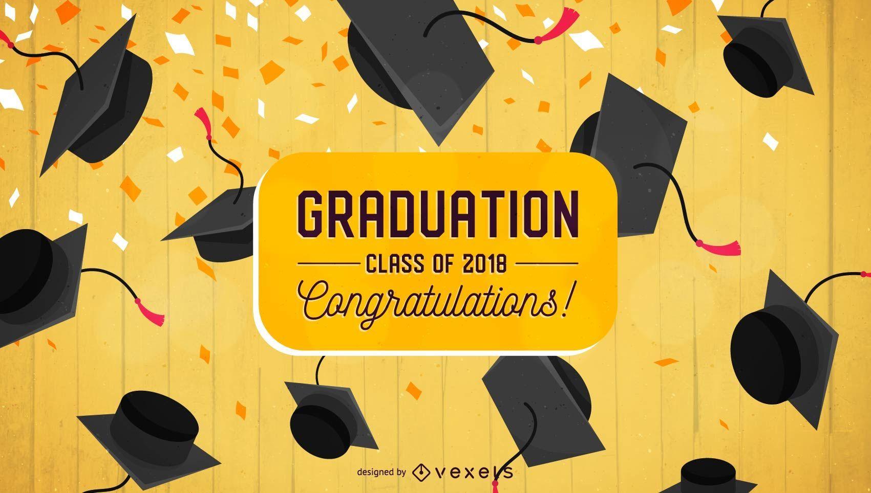 Dise?o plano de felicitaciones de graduaci?n