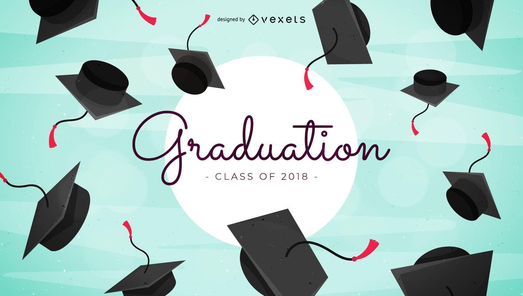 Dise?o de felicitaciones de graduaci?n