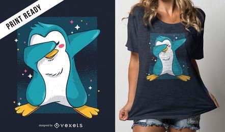 Diseño de camiseta de Penguin dab