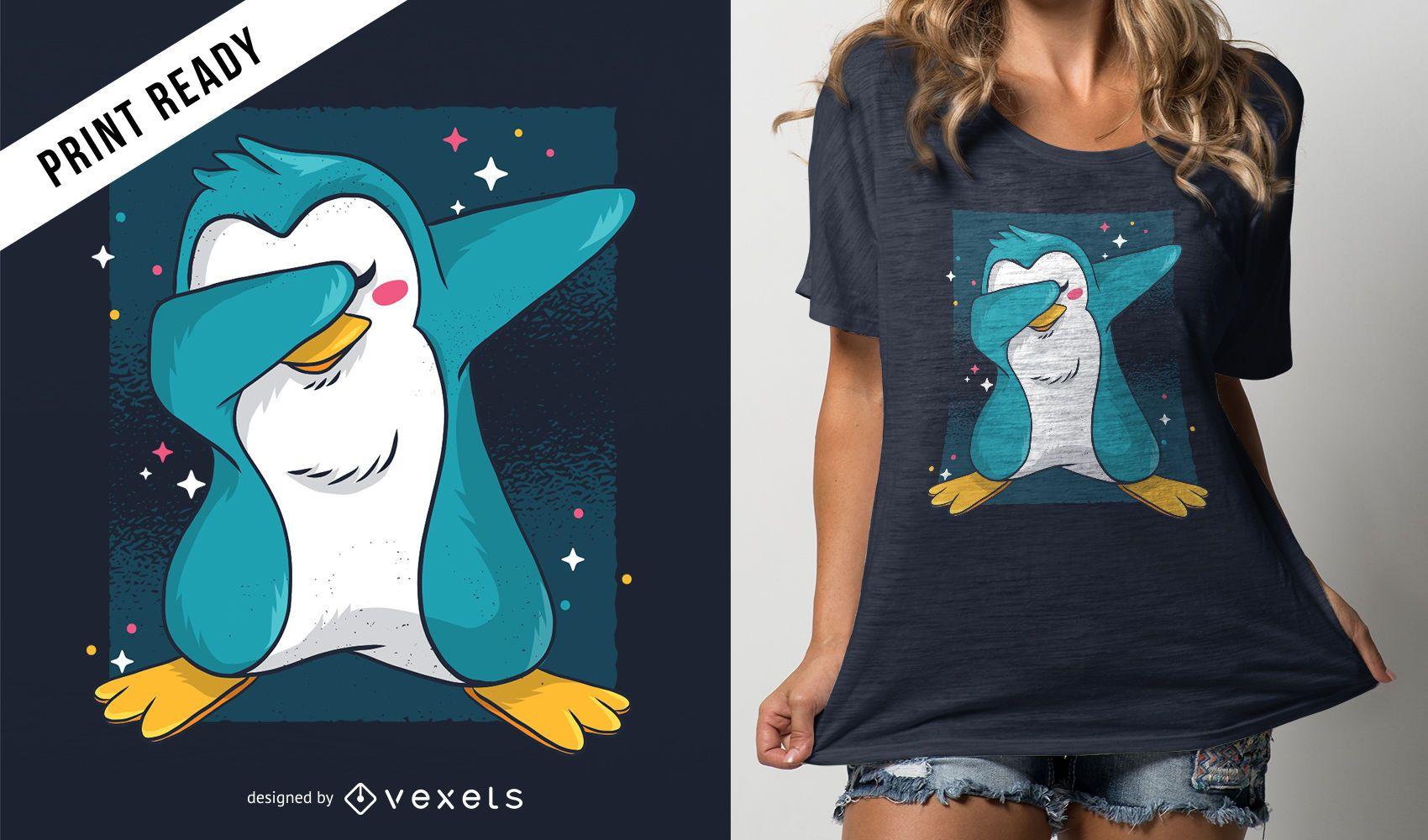 Diseño de camiseta Penguin Dab