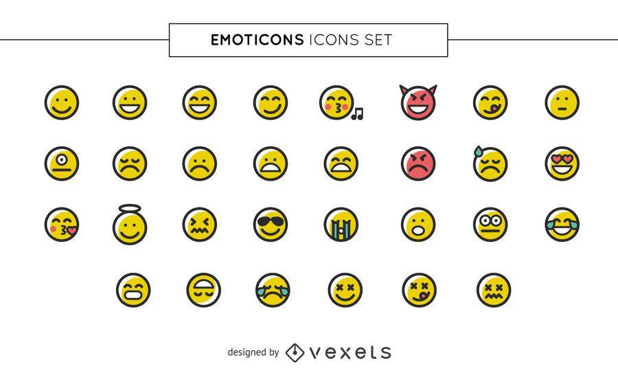 Coleção de ícones de emoji