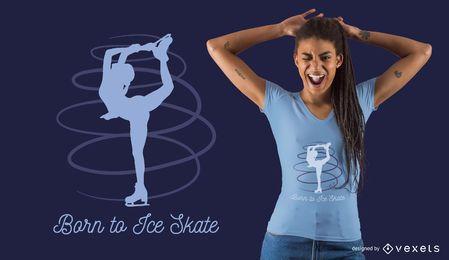 Diseño de camiseta de patinaje artístico.