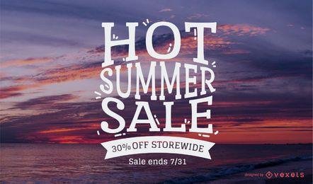 Diseño de venta de verano caliente