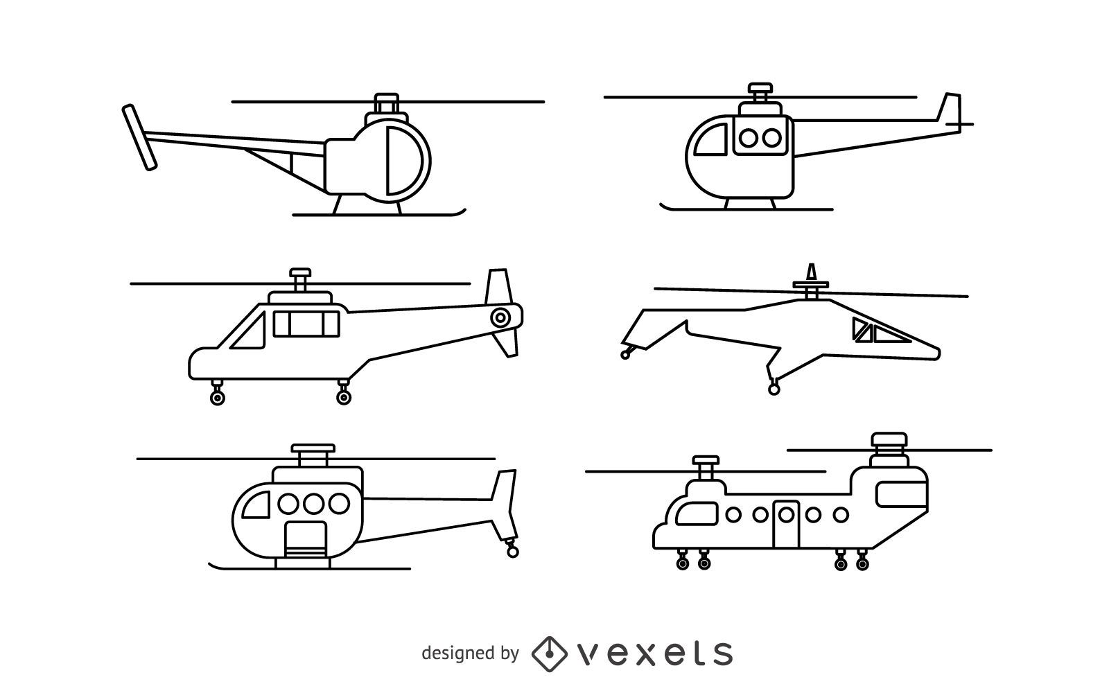Helicopter stroke set
