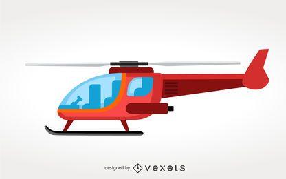 Vetor de ilustração de helicóptero