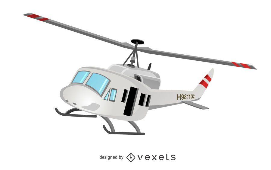 Ilustración de vehículo helicóptero