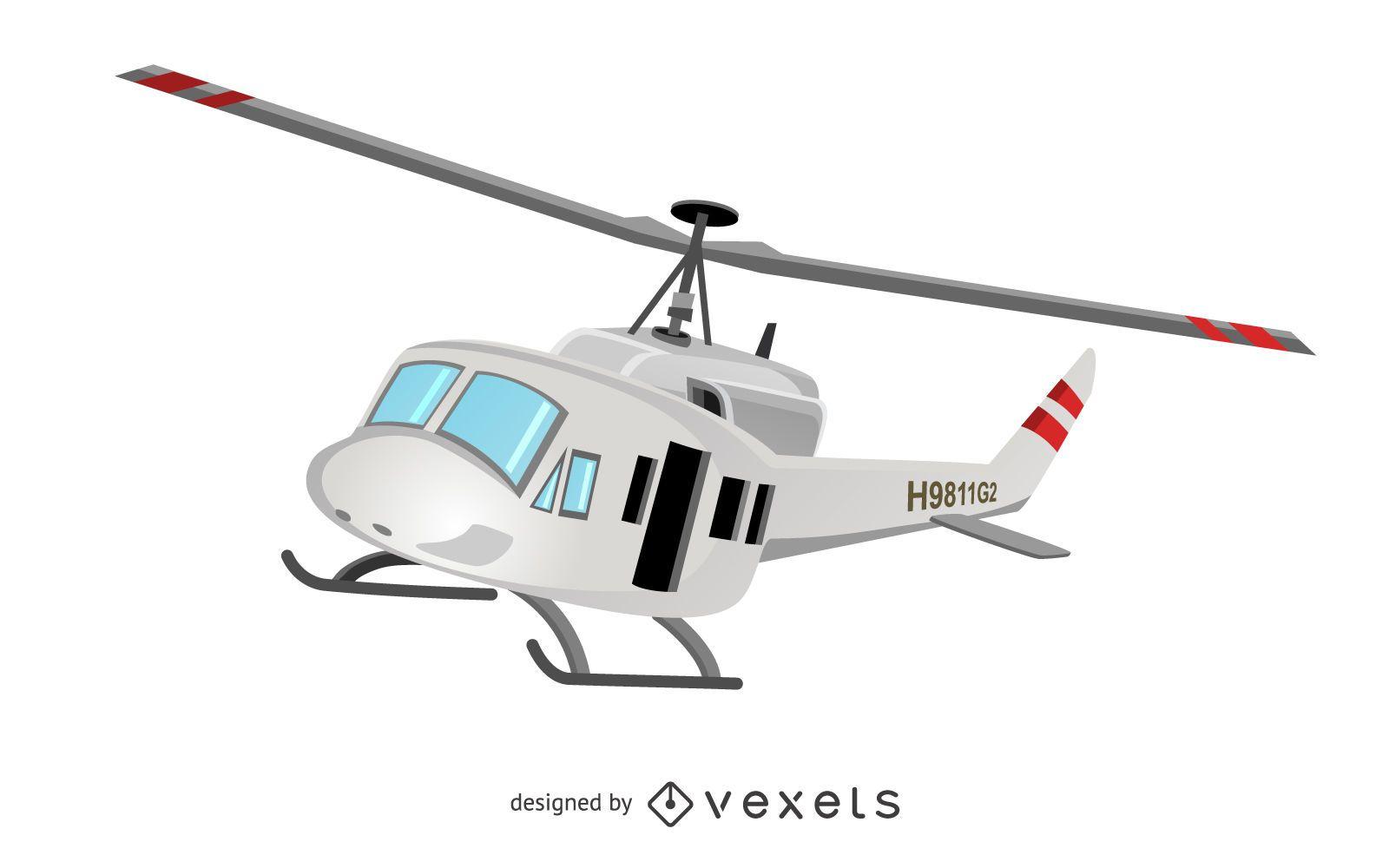 Ilustración de vehículo de helicóptero