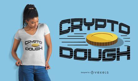 Diseño de camiseta crypto masa