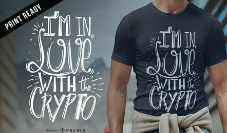 Love crypto camiseta de diseño