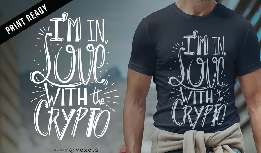Love crypto t-shirt design