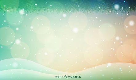 Fondo de navidad mágico bokeh