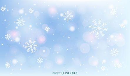Fondo de copos de nieve de Navidad