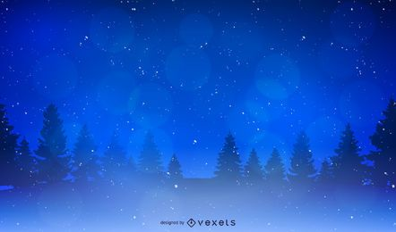 Christmas scenery background