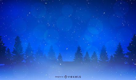Weihnachtslandschaft Hintergrund