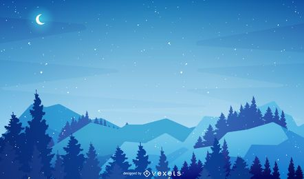 Christmas winter scenery background