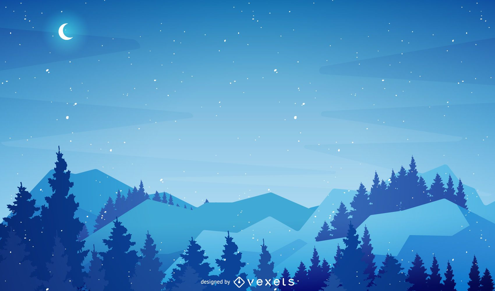Christmas winter scenery background