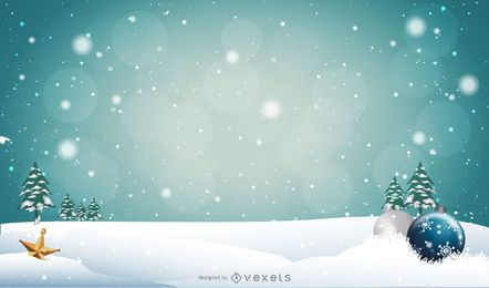 Fundo de Natal nevado