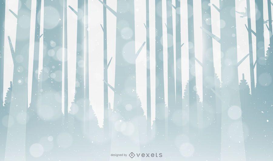 Fondo del bosque de invierno